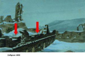 palas mur est avec flèches rogné