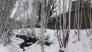 mur nord sous la neige